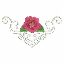 Hibiscus Border embroidery design