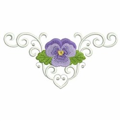Pansy Border embroidery design