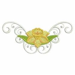 Daffodil Border embroidery design