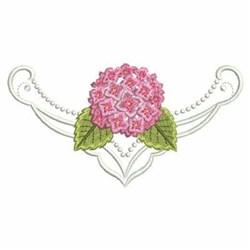 Hydrangea Border embroidery design