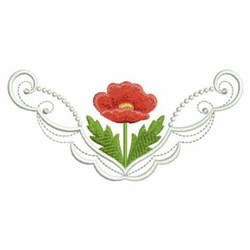 Poppy Border embroidery design
