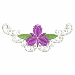 Fringe Lily Border embroidery design