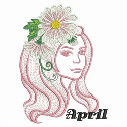 April Flower Beauty embroidery design