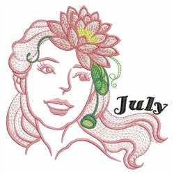 July Flower Beauty embroidery design