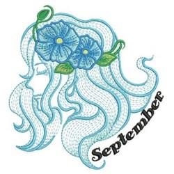 September Flower Beauty embroidery design