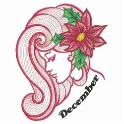 December Flower Beauty embroidery design