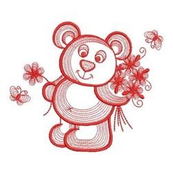 Redwork Teddy Bear embroidery design
