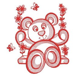 Swing Teddy Bear embroidery design