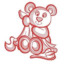 Teddy Bear Bath embroidery design