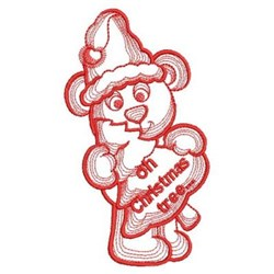 Christmas Tree Bear embroidery design