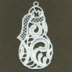 FSL Curly Snowman embroidery design