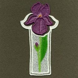FSL Iris Bookmark embroidery design