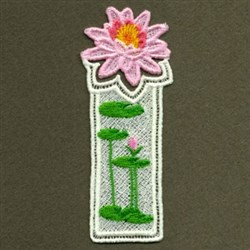 FSL Water Lily Bookmark embroidery design