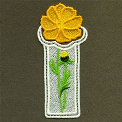FSL Floral Bookmark embroidery design