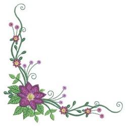 Flower Corner embroidery design