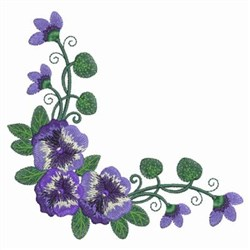 Pansy Corner embroidery design