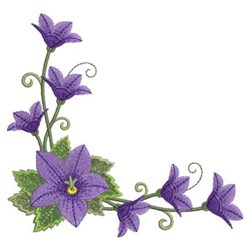 Purple Flower Corner embroidery design