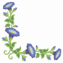 Morning Glory Corner embroidery design