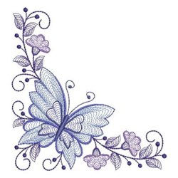 Butterfly Corners embroidery design