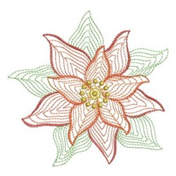 Rippled Poinsettia embroidery design
