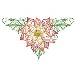 Rippled Poinsettia embroidery design