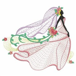 Rippled Bride embroidery design