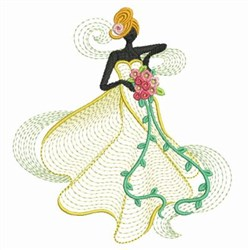 Bridal Ripple embroidery design
