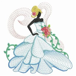 Rippled Bridal embroidery design
