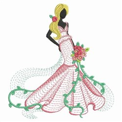 Bride embroidery design