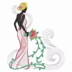 Wedding Girl embroidery design