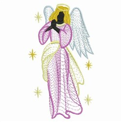 Rippled Star Angel embroidery design