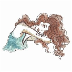 Sleeping Lady embroidery design