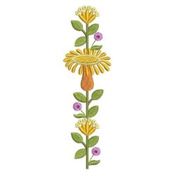 Tall Flowers embroidery design