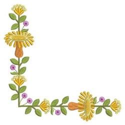 Corner Flowers embroidery design