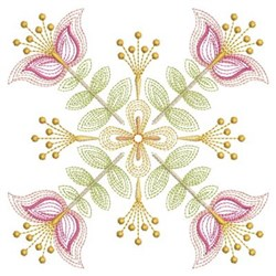 Rippled Floral Quilt embroidery design