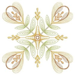 Rippled Quilt Floral embroidery design
