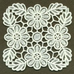 Flower Doily FSL embroidery design