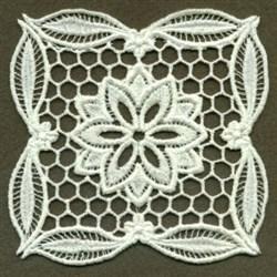 Flower FSL Doily embroidery design