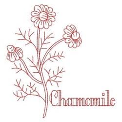 Redwork Chamomile embroidery design