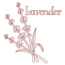 Redwork Lavender embroidery design