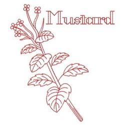 Redwork Mustard embroidery design
