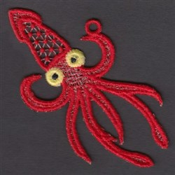 FSL Squid embroidery design