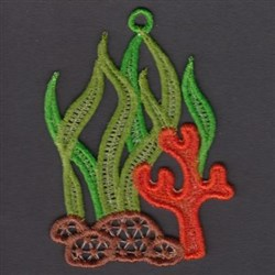 FSL Seaweed & Coral embroidery design
