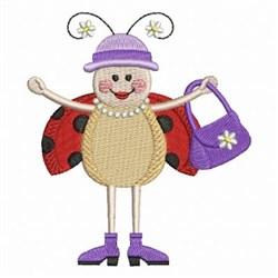 Ladybug Fashion embroidery design