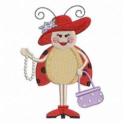 Fashion Ladybug embroidery design