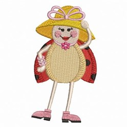 Ladybug & Hat embroidery design