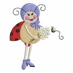 Ladybug Bouquet embroidery design