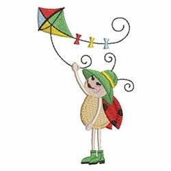Ladybug & Kite embroidery design