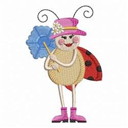 Ladybug & Umbrella embroidery design