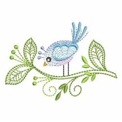 Rippled Bird embroidery design